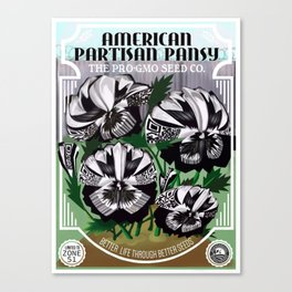 The Partisan Pansy Seed Packet Canvas Print