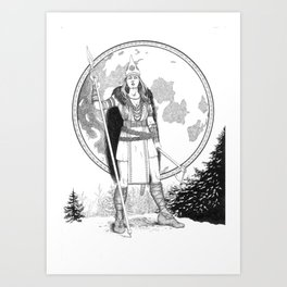 Slavic Goddess of War Art Print
