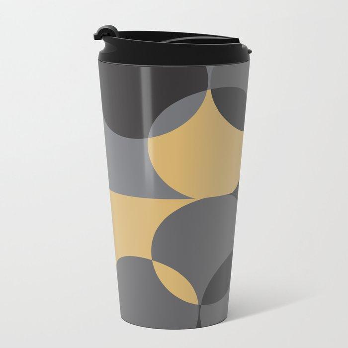 Black Gold Metal Travel Mug
