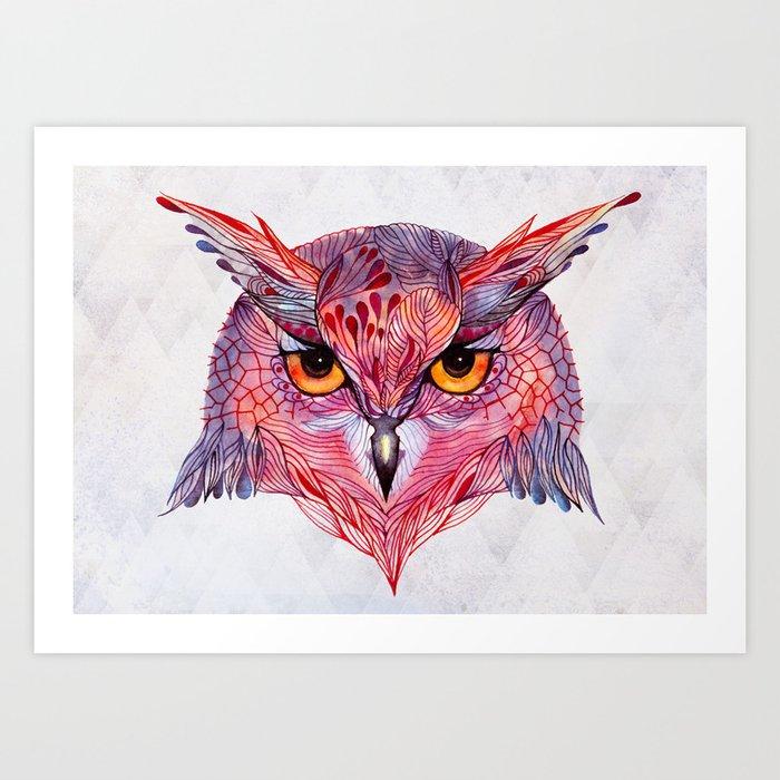 Owla owl Art Print