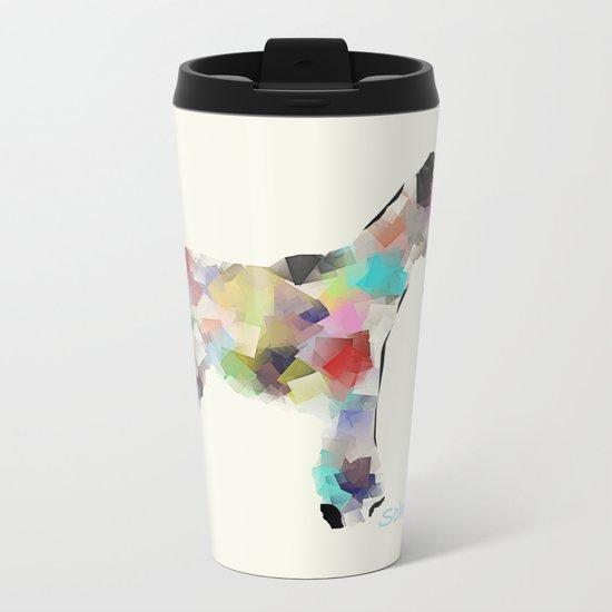Schnauzer modern Metal Travel Mug