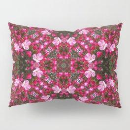 Spring blossoms kaleidoscope - Strawberry Parfait Crabapple Pillow Sham