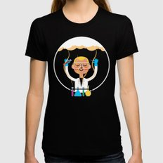 Science is Fun LARGE Womens Fitted Tee Black