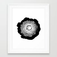 tree rings Framed Art Prints featuring Tree Rings by vogel