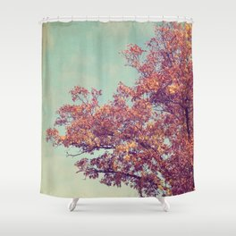 Red Oak Shower Curtain
