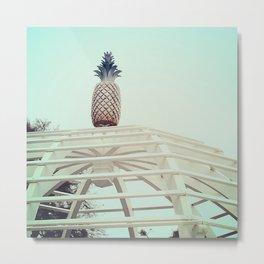 Pineapple on top Metal Print