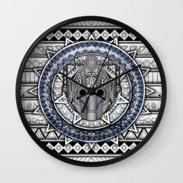 Aztec Cyberman Tardis Doctor who pencils sketch Wall Clock