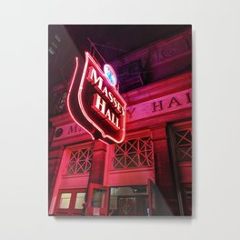 Glow forever red Metal Print