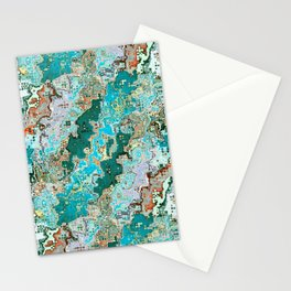 Colorful Abstract Chaos Stationery Cards