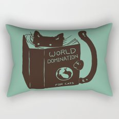 World Domination for Cats (Green) Rectangular Pillow