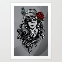 gypsy Art Prints featuring gypsy by Erdogan Ulker