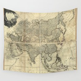 D'Anville Wall Map of Asia Wall Tapestry