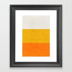 three stripes - candy corn Framed Art Print