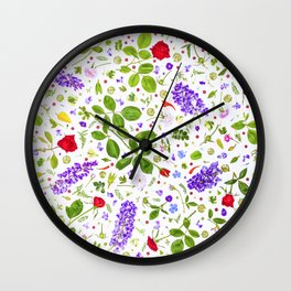 Leaves and flowers (14) Wall Clock