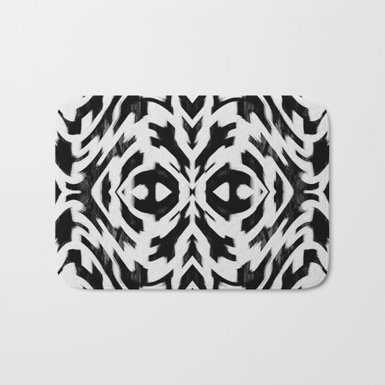 Arrow Tribe Black & White Bath Mat
