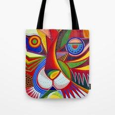 Tiger Abstract Tote Bag
