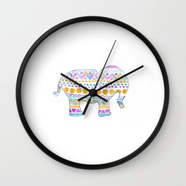 boho elephant Wall Clock