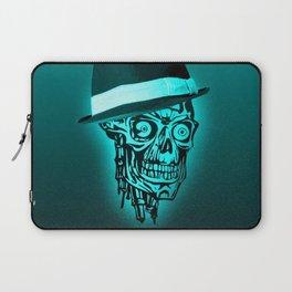 Elegant Skull with hat,mint Laptop Sleeve