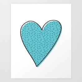 Furry Heart Art Print