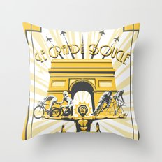 Le Grande Boucle Tour de France Throw Pillow