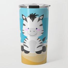 Zebra in the savannah Travel Mug