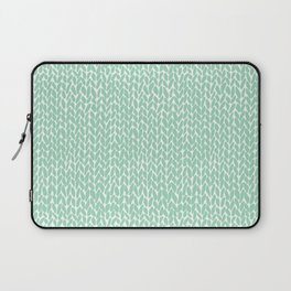 Hand Knit Mint Laptop Sleeve