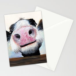 Nosey Cow ' HEY! HOW'S IT GOIN'? ' by Shirley MacArthur Stationery Cards