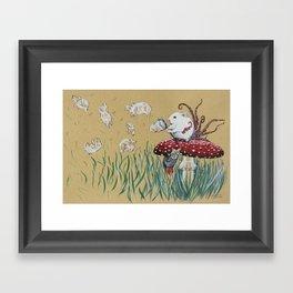 Simply Blow Framed Art Print