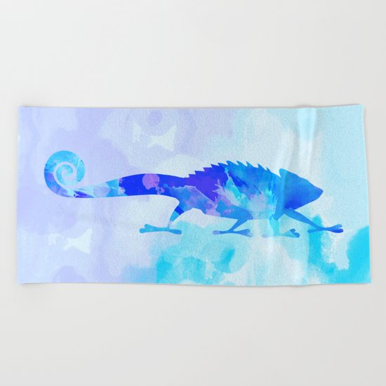 Abstract Chameleon Reptile Beach Towel