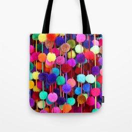Rainbow Pom-poms (Vertical) Tote Bag
