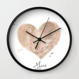 Mars in love Wall Clock