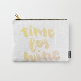 Time for White Wine Carry-All Pouch