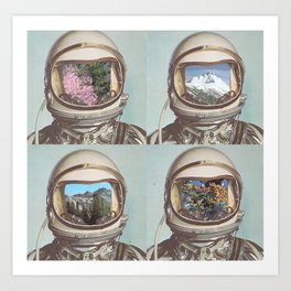 Mystery creates wonder and wonder is the basis of man's desire to understand.  Art Print
