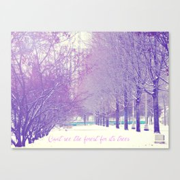Can't see the forest for its trees Canvas Print