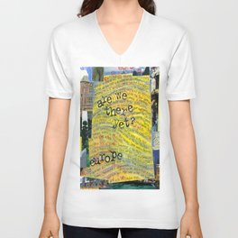 Europe by Seattle Artist Mary Klump Unisex V-Neck