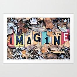 Imagine Sign Art Print