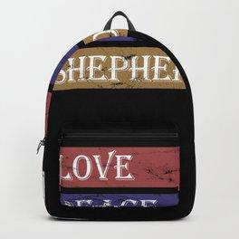 Love Peace Shepherd Dog Backpack