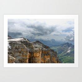 Alpine view Art Print