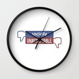 Socially Unacceptable  Wall Clock