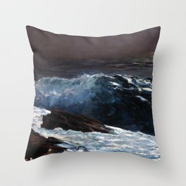 Winslow Homer - Sunlight on the Coast Throw Pillow