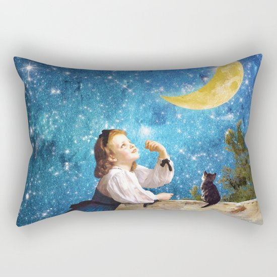 One Wish Upon the Moon Rectangular Pillow