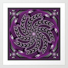 Wind Spirit (Purple) Art Print