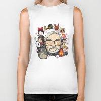 hayao miyazaki Biker Tanks featuring Ghibli, Hayao Miyazaki and friends by KickPunch