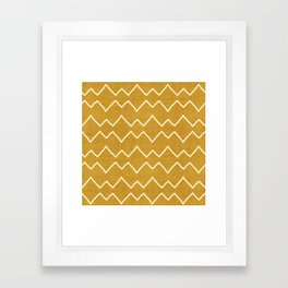Urbana in Gold Framed Art Print
