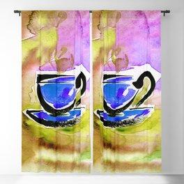 Coffee Dreams 13f by Kathy Morton Stanion Blackout Curtain