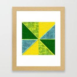 Abs Geometry lemon Framed Art Print