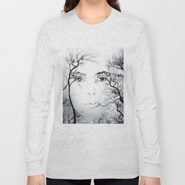 face in the trees Long Sleeve T-shirt
