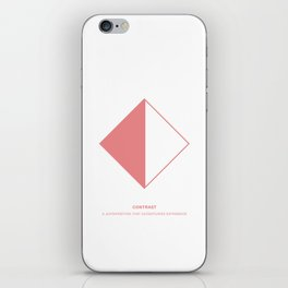 Design Principle SEVEN - Contrast iPhone Skin