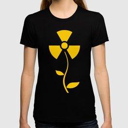 Radioactive flower Yellow design T-shirt