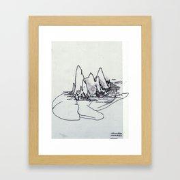 Mountain Girl in the Sea Framed Art Print